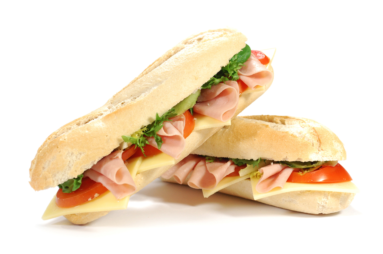 Large sub sandwich isolated on white